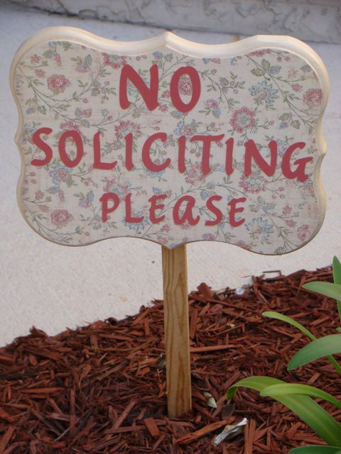 No soliciting 2