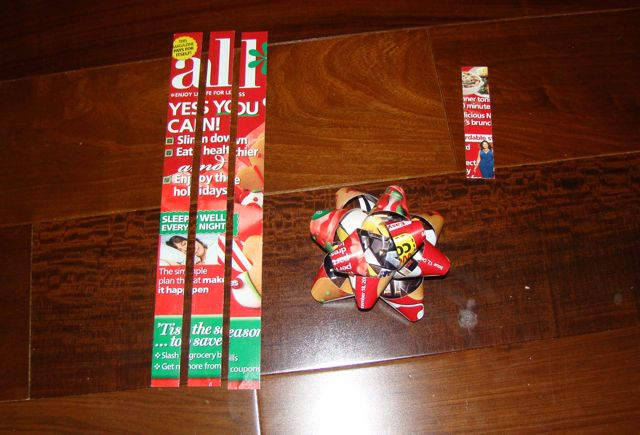 reuse and recycle those old magazines and paper to turn them into gift bows learn