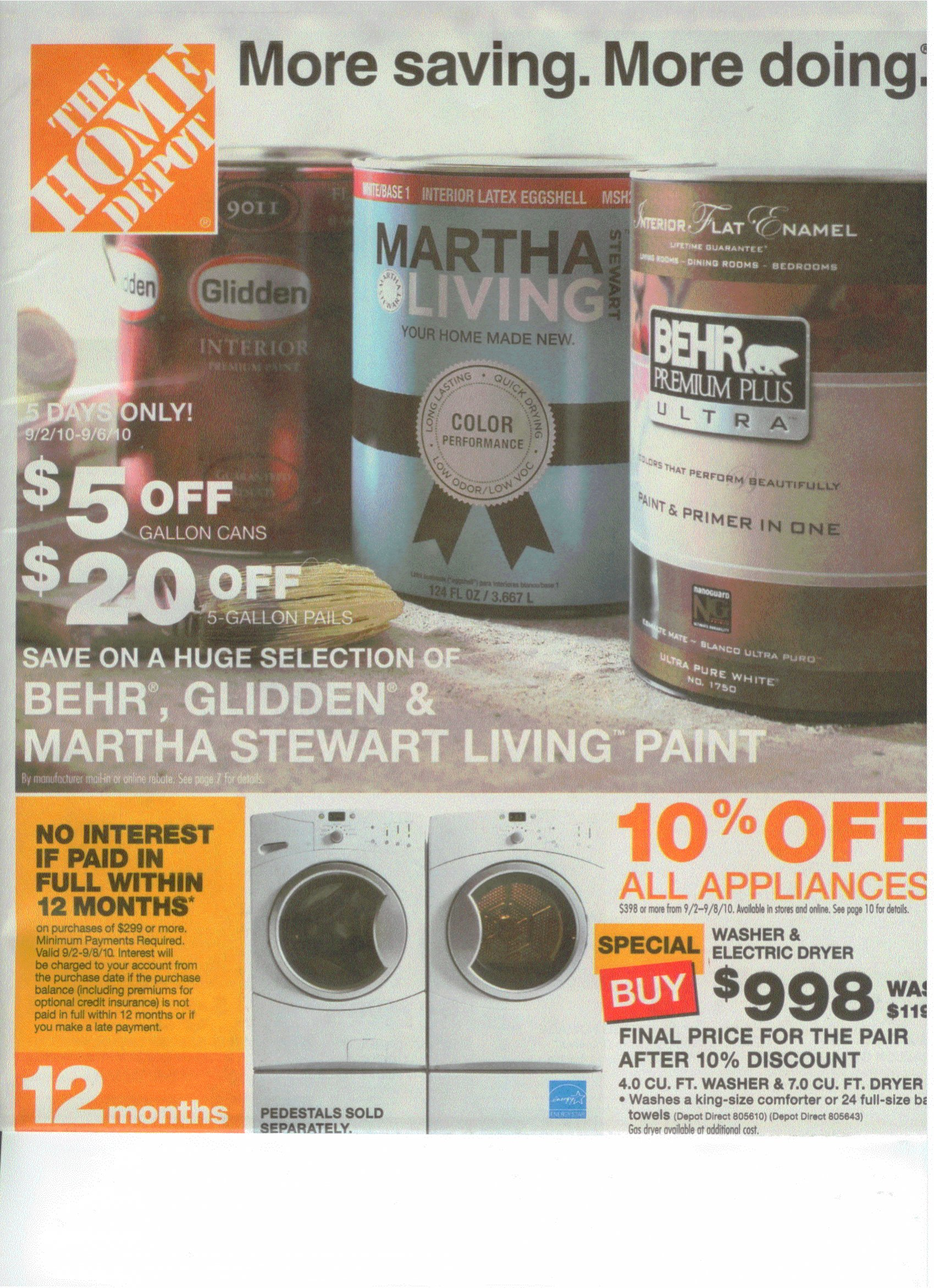 Home Depot Labor Day Sale Ad - Saving the Family Money