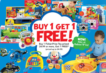 picture about Fisher Price Printable Coupons known as Toys R Us Fisher Rate B1G1 Cost-free Sale Printable Discount coupons