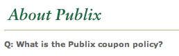Publix Coupon Policy