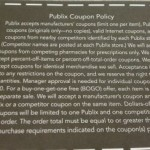Official Publix Coupon Policy Posted & Picture!