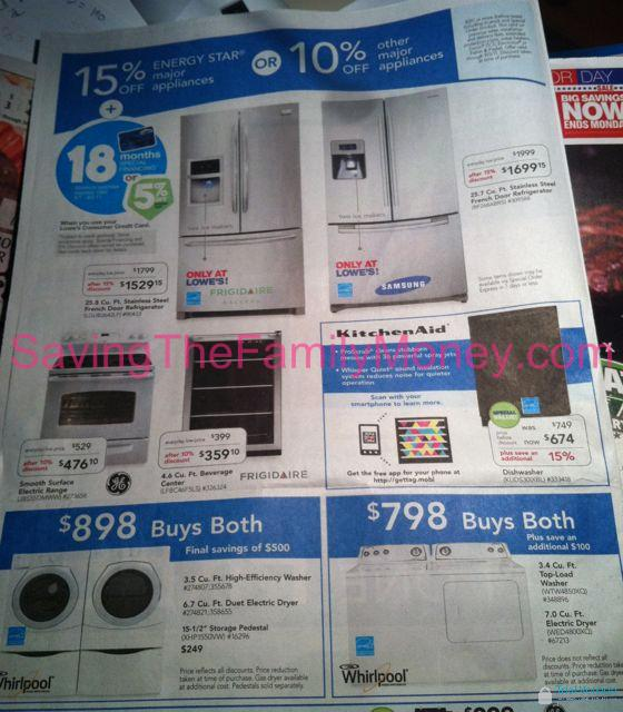 Lowe S Labor Day Weekend Sale Ad Scan 2011 Saving The