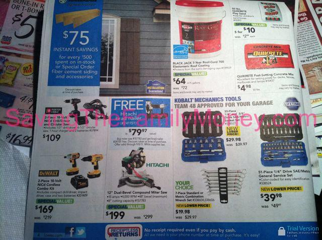 Lowe S Labor Day Weekend Sale Ad Scan 2011 Saving The Family Money