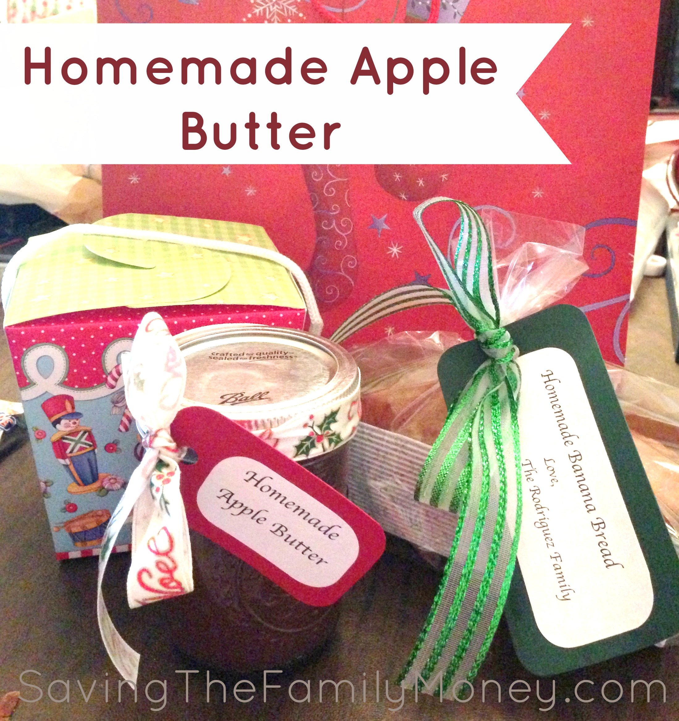Homemade Crockpot Apple Butter - Great Christmas Gifts - Saving the ...