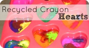 recycled crayon hearts