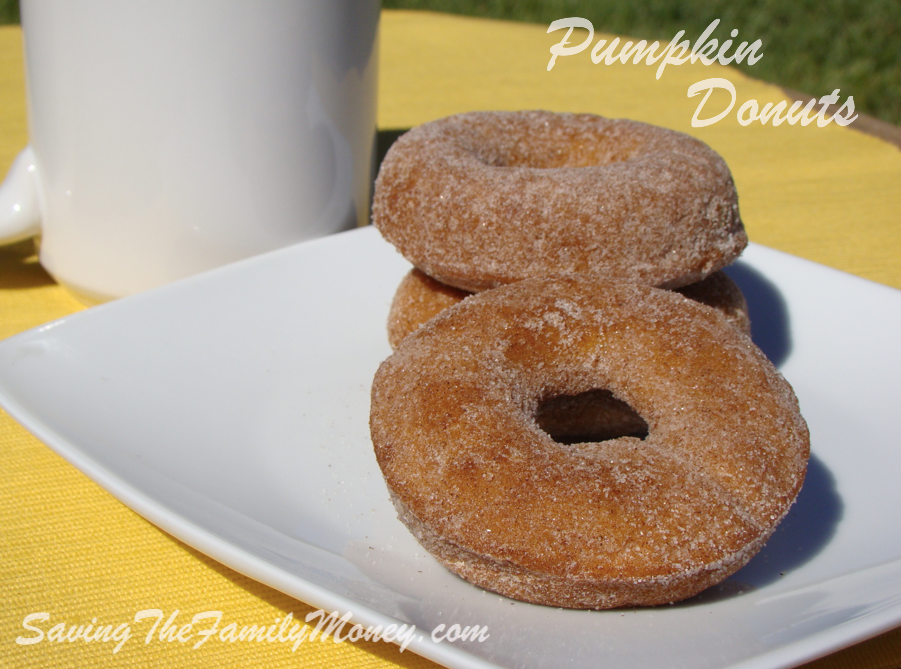 Homemade Pumpkin Donuts with Cinnamon Sugar Coating
