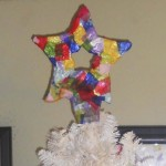 Christmas Art Crafts For Kids ~ Paper Mache Star Tree Topper