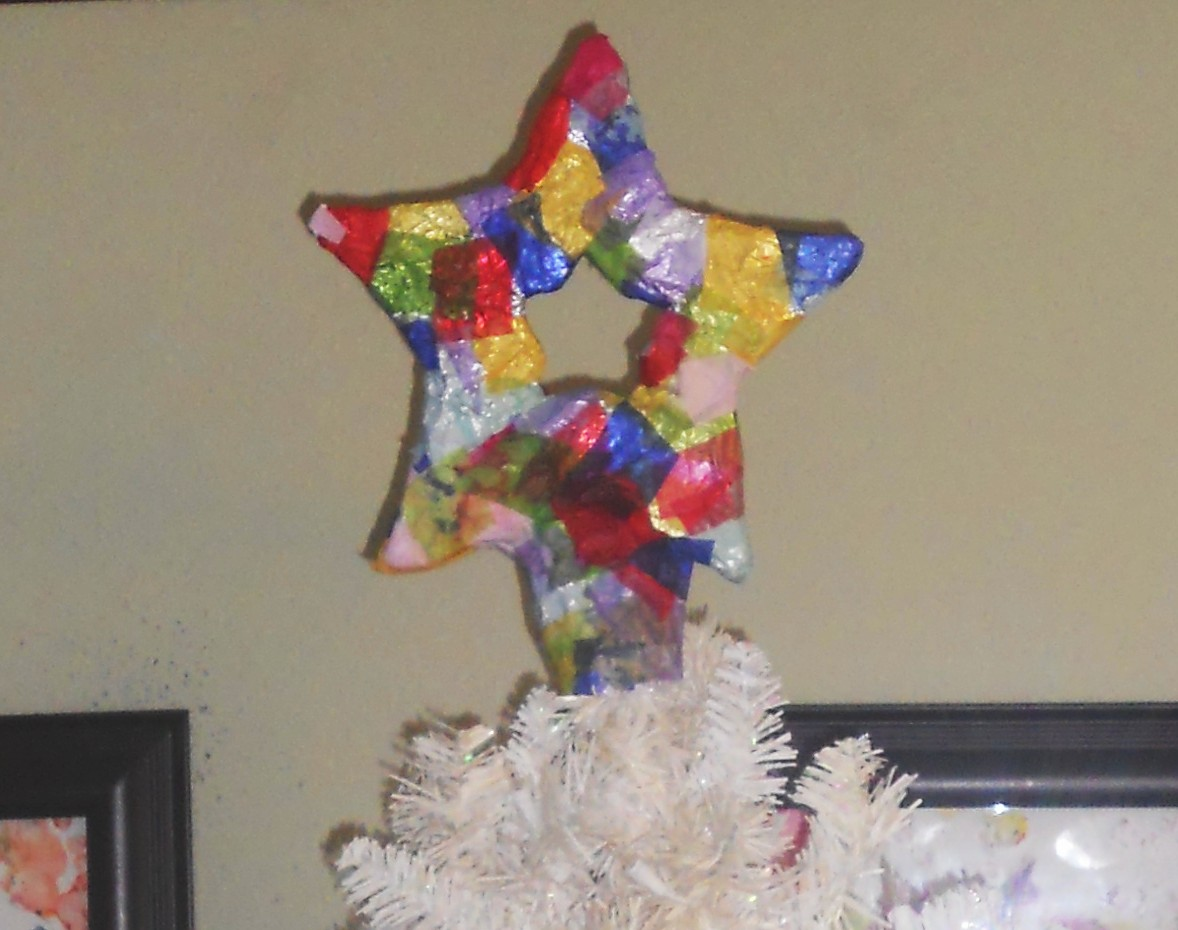 Paper Mache Star Tree Topper