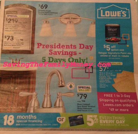 Lowe's 2013 Presidents day