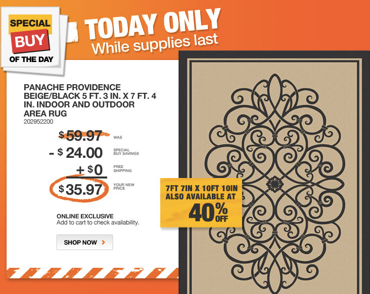 home depot outdoor rugs Home Depot Daily Deal ~ Indoor/Outdoor Area Rugs with Free  home depot outdoor rugs