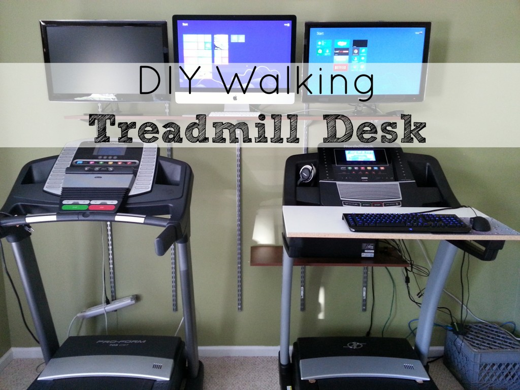 DIY Walking Treadmill Desk