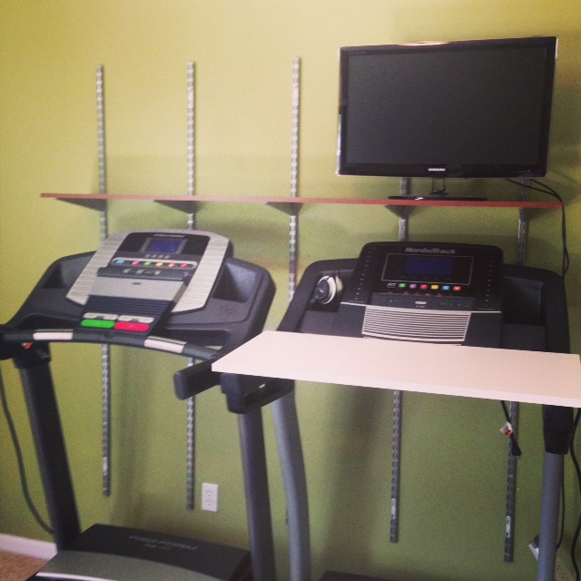 DIY treadmill walking desk