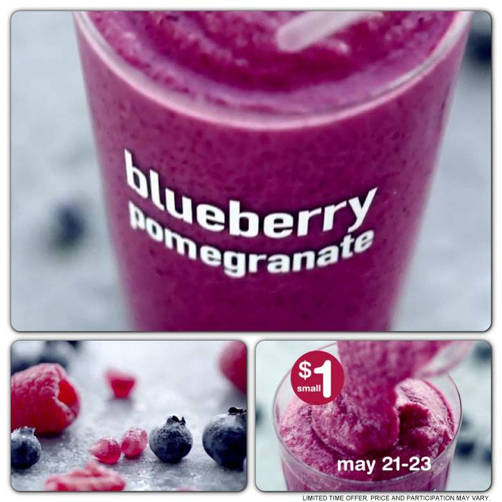 McDonald's Blueberry Pomegranate Smoothie For $1 (May 21-23) - Saving ...