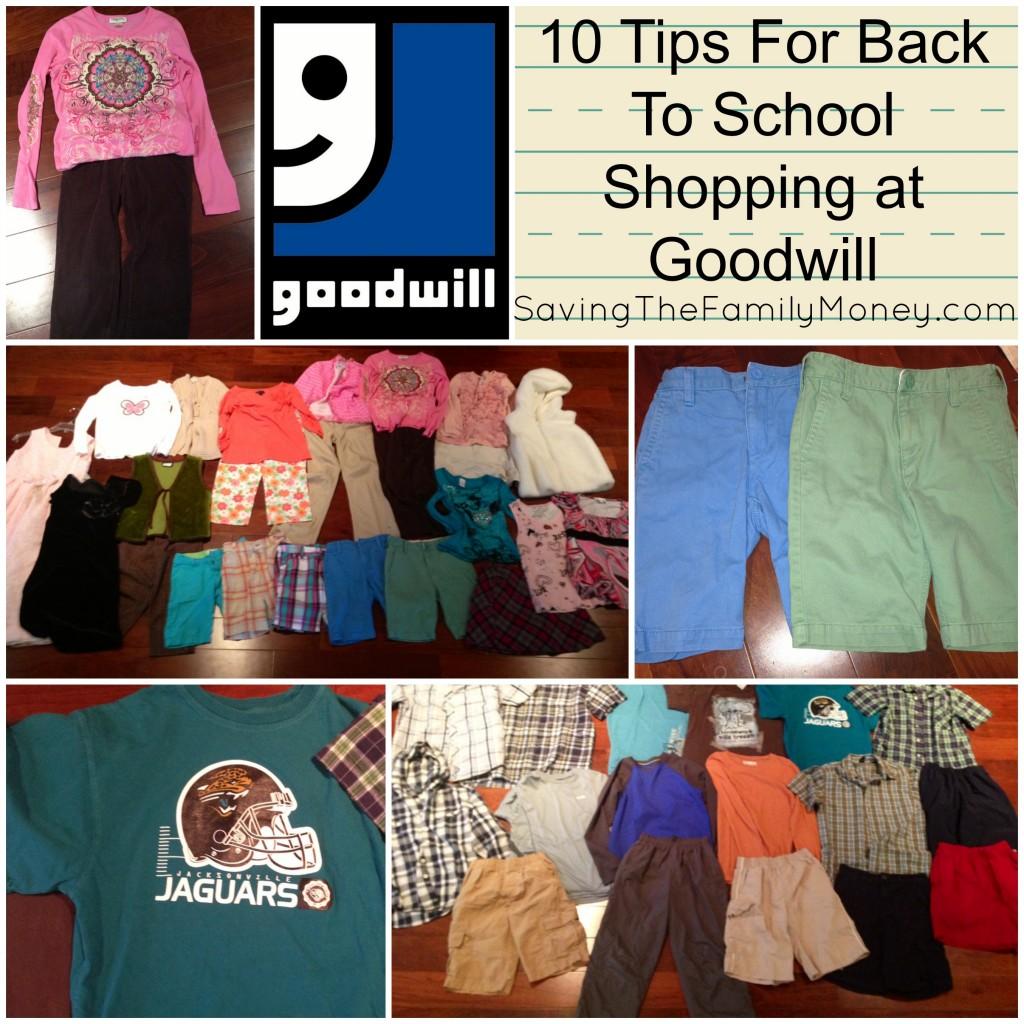 10 Tips For Back to school shopping at Goodwill