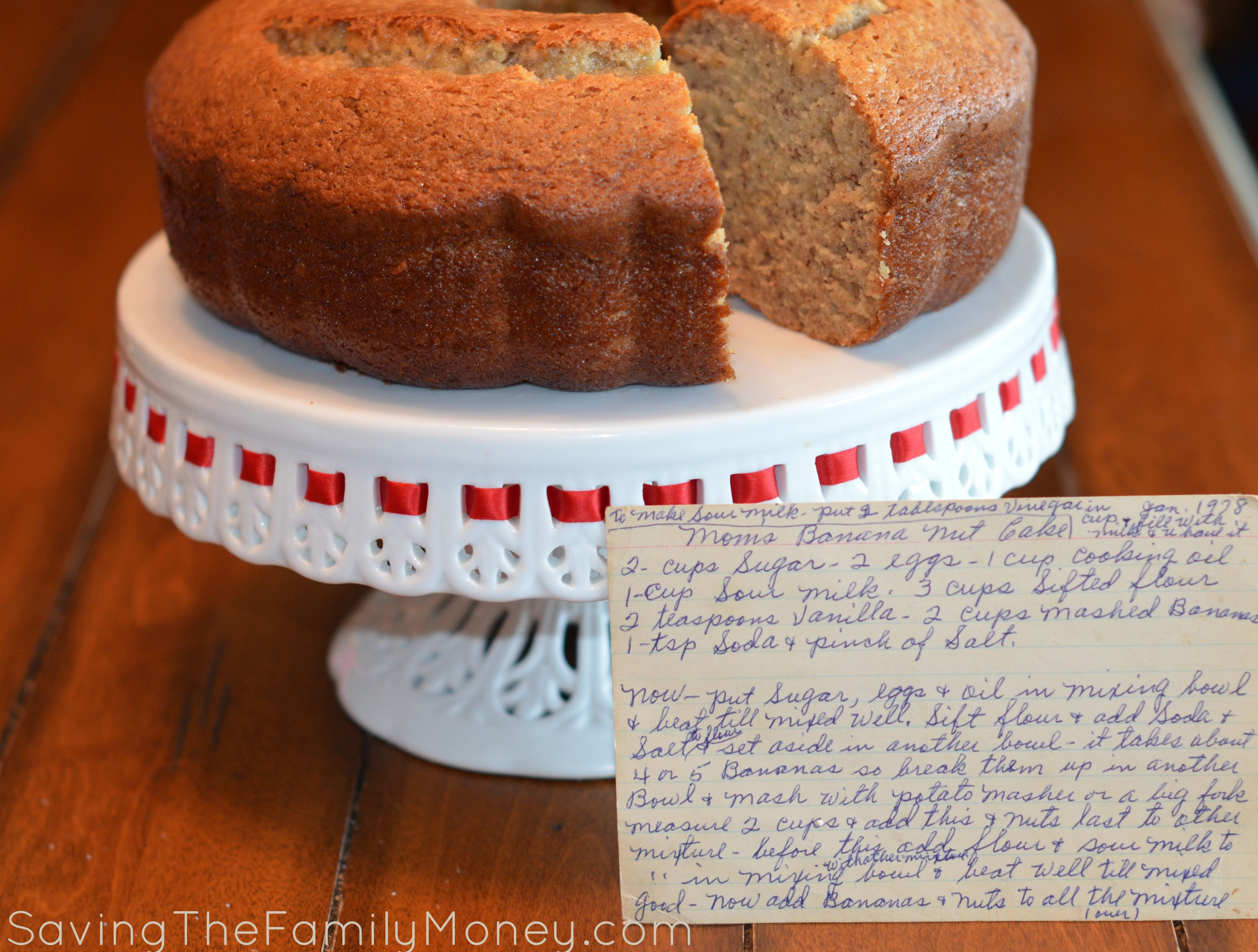 Banana Bread with Recipe Card