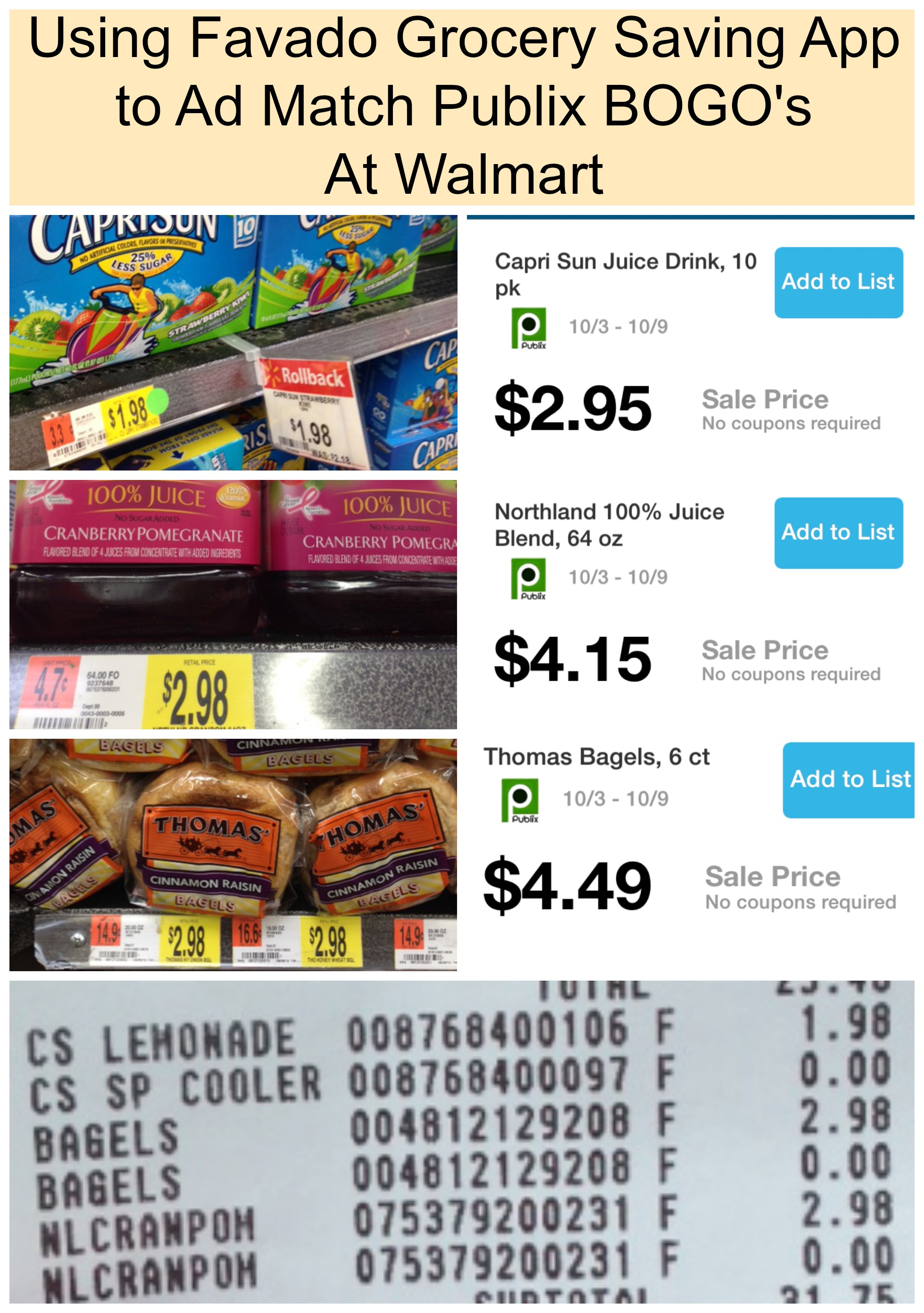 Walmart ad matches the publix bogo s with the walmart price