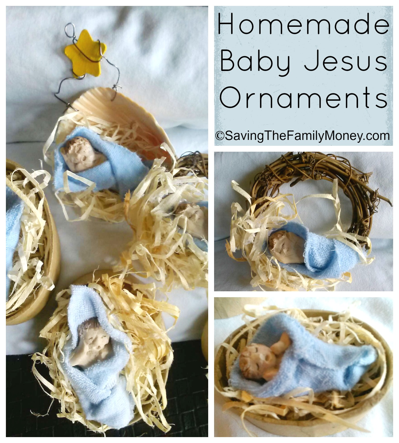 Homemade Baby Jesus Ornaments