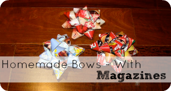 Homemade Magazine Bows