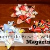Homemade Christmas Bows – Using Magazines