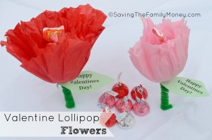 Valentine Lollipop Flowers