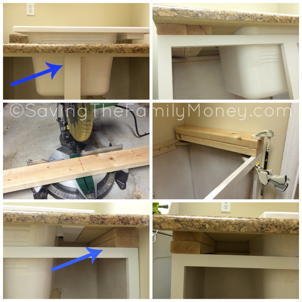 installing the laundry room countertop saving the family