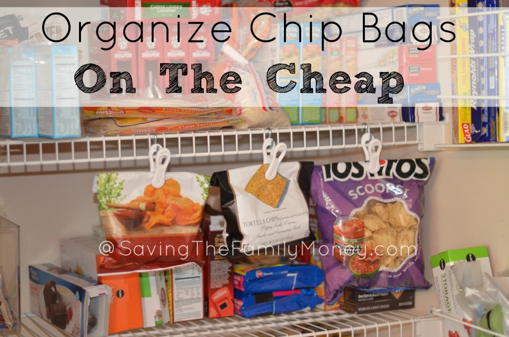 Pantry organization ideas organize chip bags on the cheap for Organization ideas for kitchen pantry