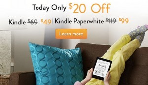 National Reading Month ~ $20 Off Kindle and Kindle Paperwhite