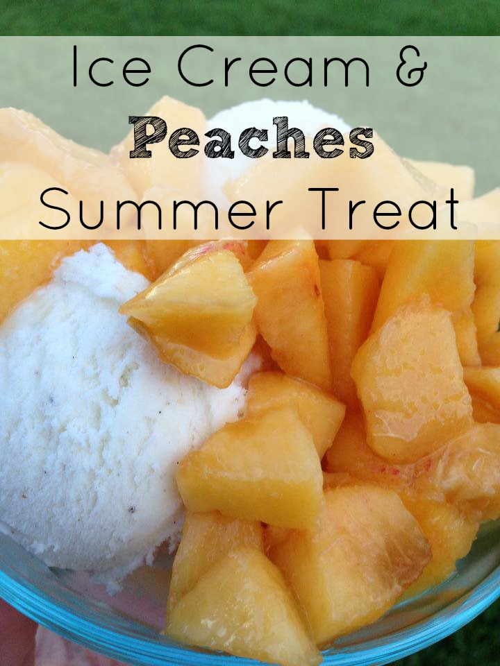... cream to make one of my favorite summer treats, ice cream and peaches