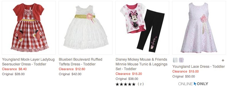 Girls Clearance Kids Toddlers Clothing | Kohl_s