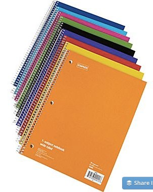 Staples® 1 Subject Notebook, 8_ x 10-1_2_ | Make More Happen at Staples®-1