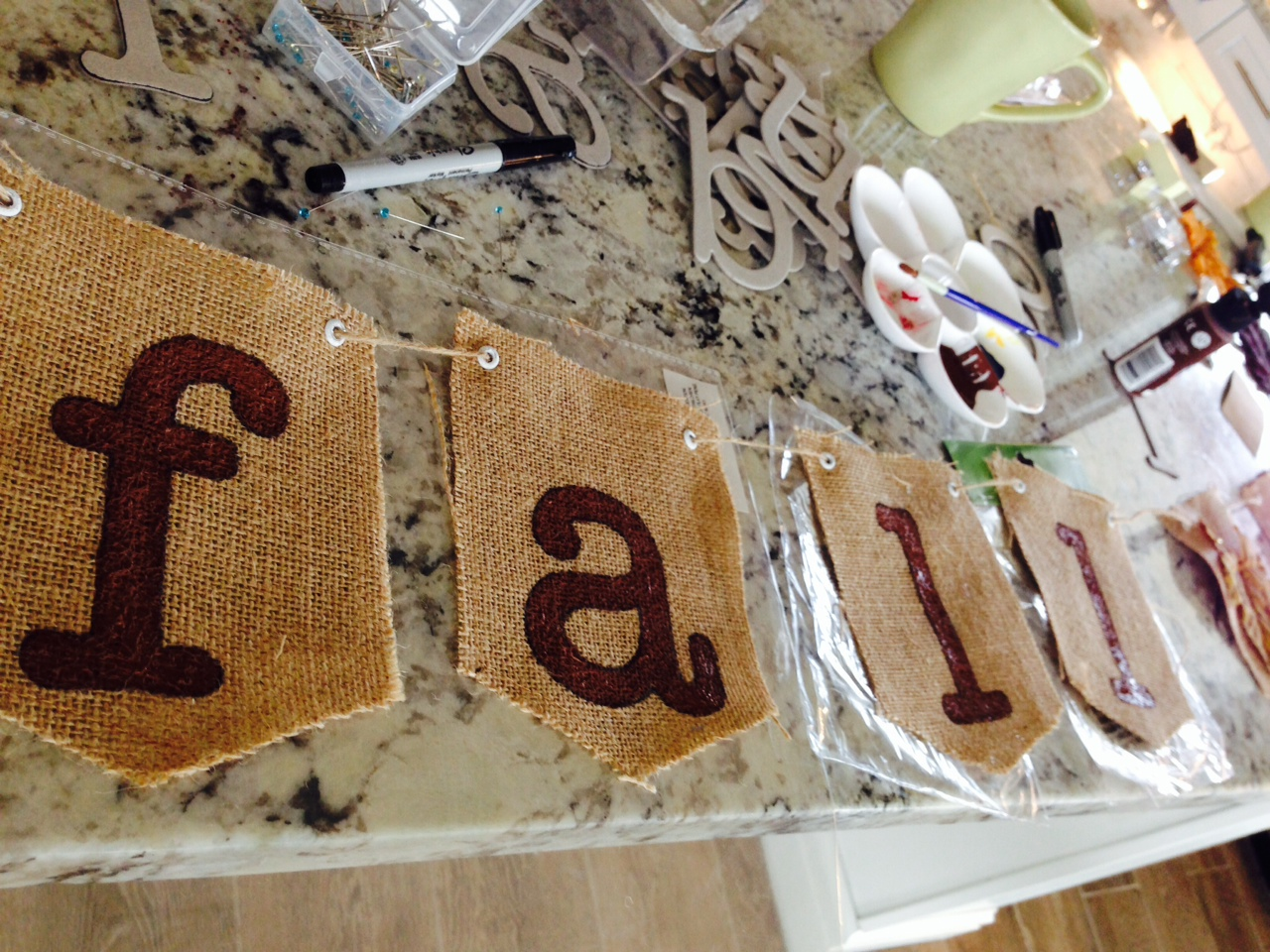 Banner painted letters