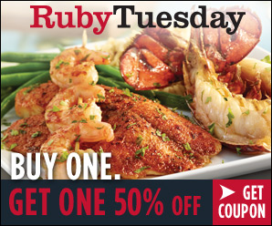 Ruby Tuesday Bogo 50 Entree Coupon And Giveaway Saving The Family Money