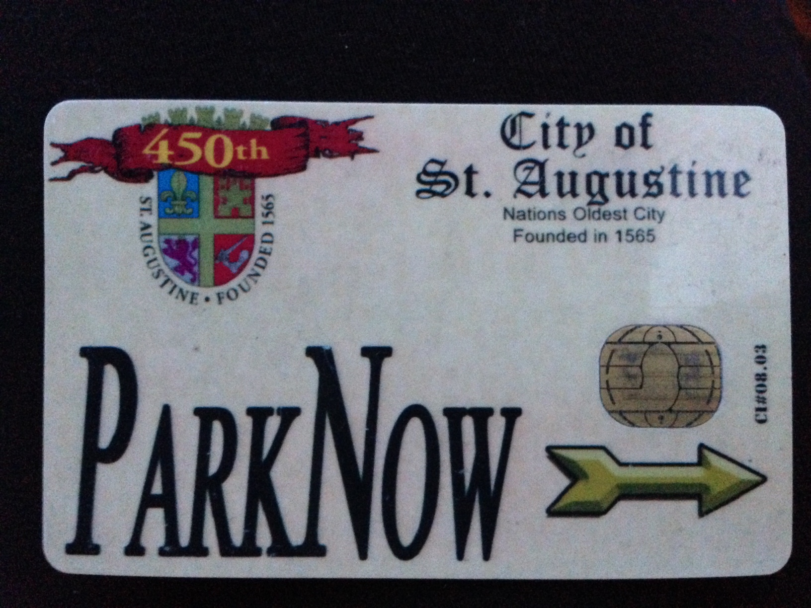 Whether you live in the Nations Oldest City, visit us frequently OR plan on spending your vacation in St Augustine, FL~ the PARK NOW card is a MUST HAVE!  For $2.50 you receive a card that you can add $20, $30, $50 or $100 to which makes it a pre-paid card.  It does not expire and you can use it at all parking meters and the parking garage.