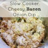 Slow Cooker Cheesy Bacon Onion Dip