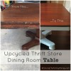Upcycled Thrift Store Dining Room Table