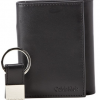 Calvin Klein Men_s Leather Trifold, Black, One Size at Amazon Men's Clothing store_ Wallets
