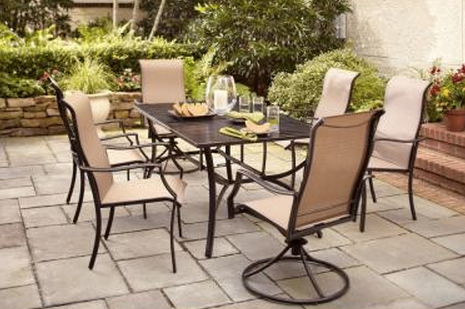 Amazing Hampton Bay Amica 7 Piece Patio Dining Set XSS 1754   The Home