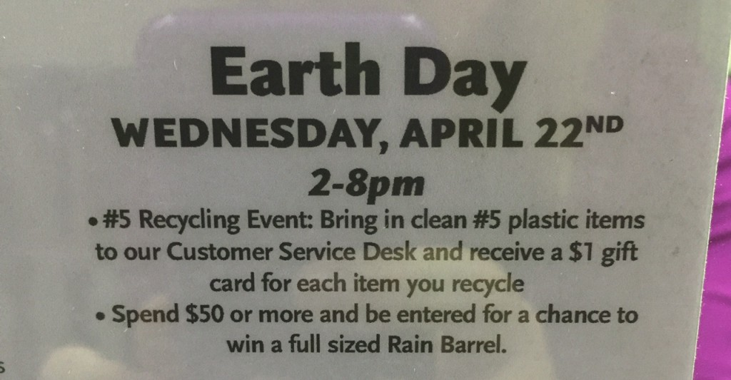 Whole Foods earth day