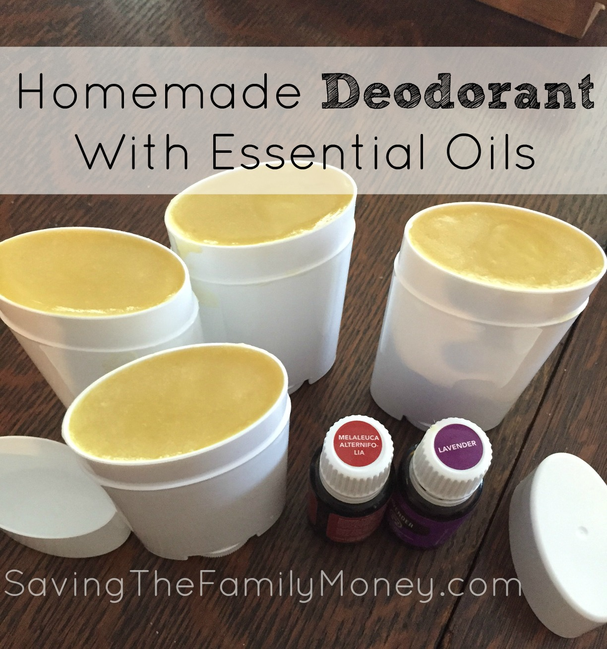 Homemade Deodorant With Essential Oils