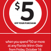 Winn-Dixie $5 Off Coupon In Times Union Friday October 16