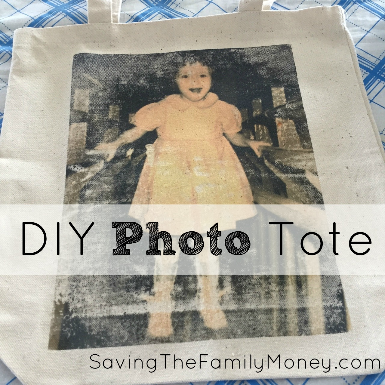 DIY Photo Tote