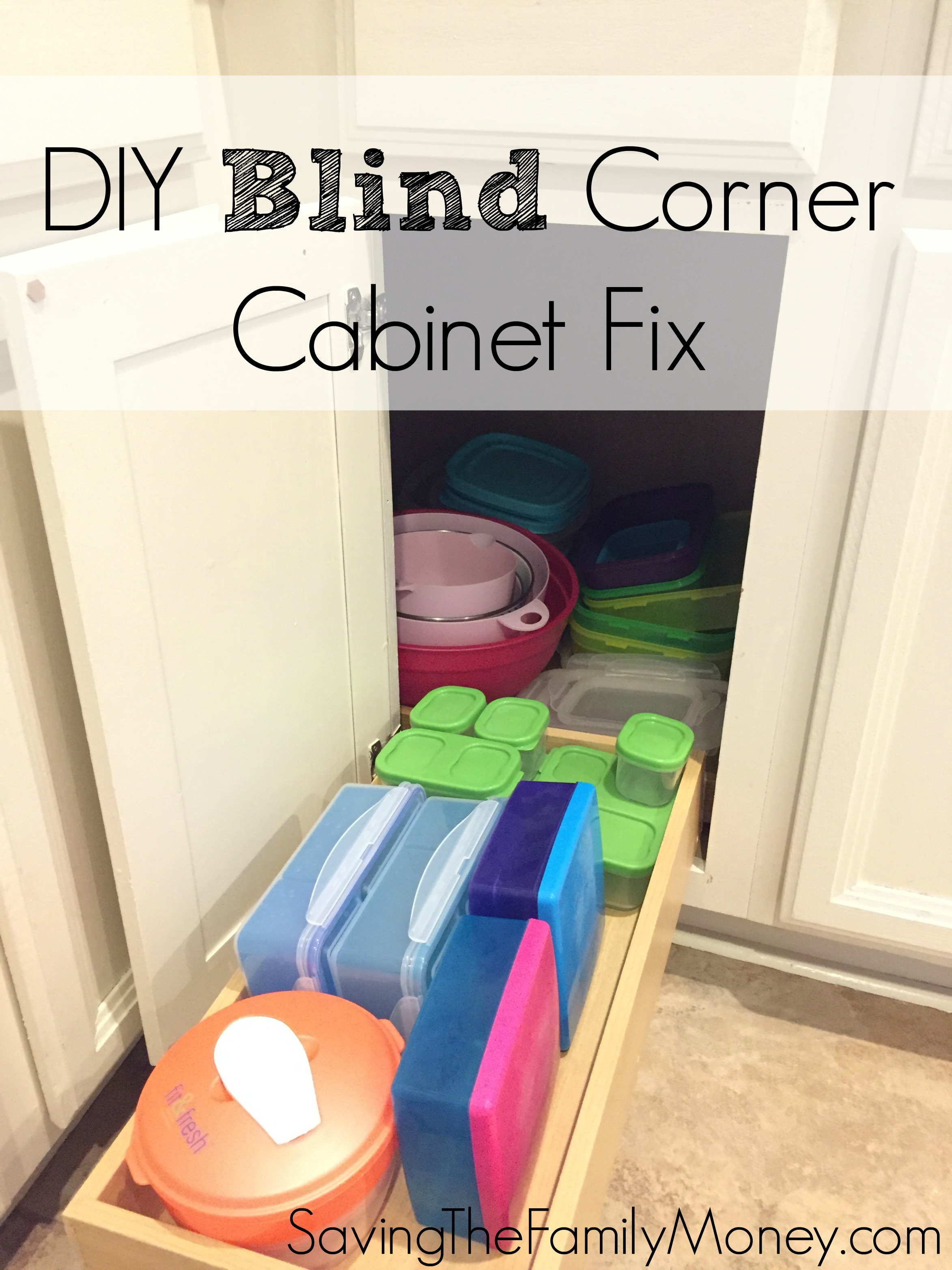 DIY Blind Corner Cabinet Fix